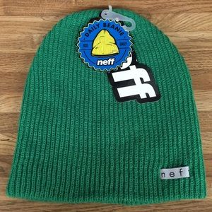 Neff Daily Beanie Bright Green NWT Slouchy Style